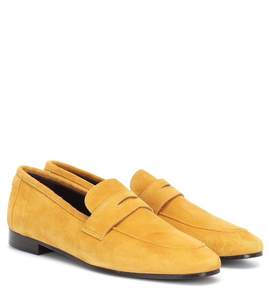 BOUGEOTTE Flaneur Suede Loafers in Yellow