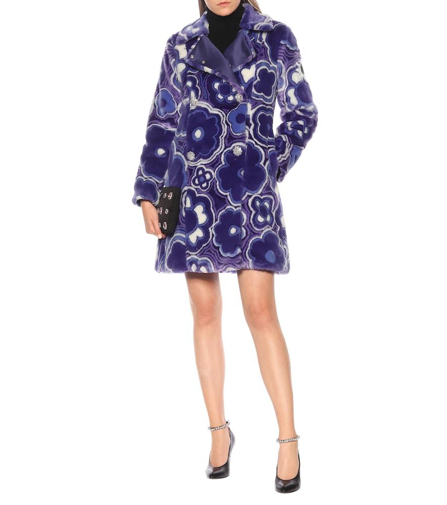 8 MONCLER RICHARD QUINN Donyale floral faux-fur coat by Moncler Genius