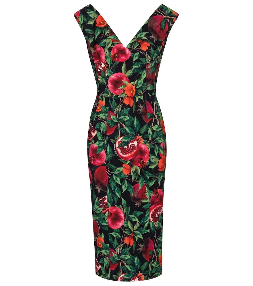 Exclusive to Mytheresa – Pomegranate-print midi dress by Dolce & Gabbana