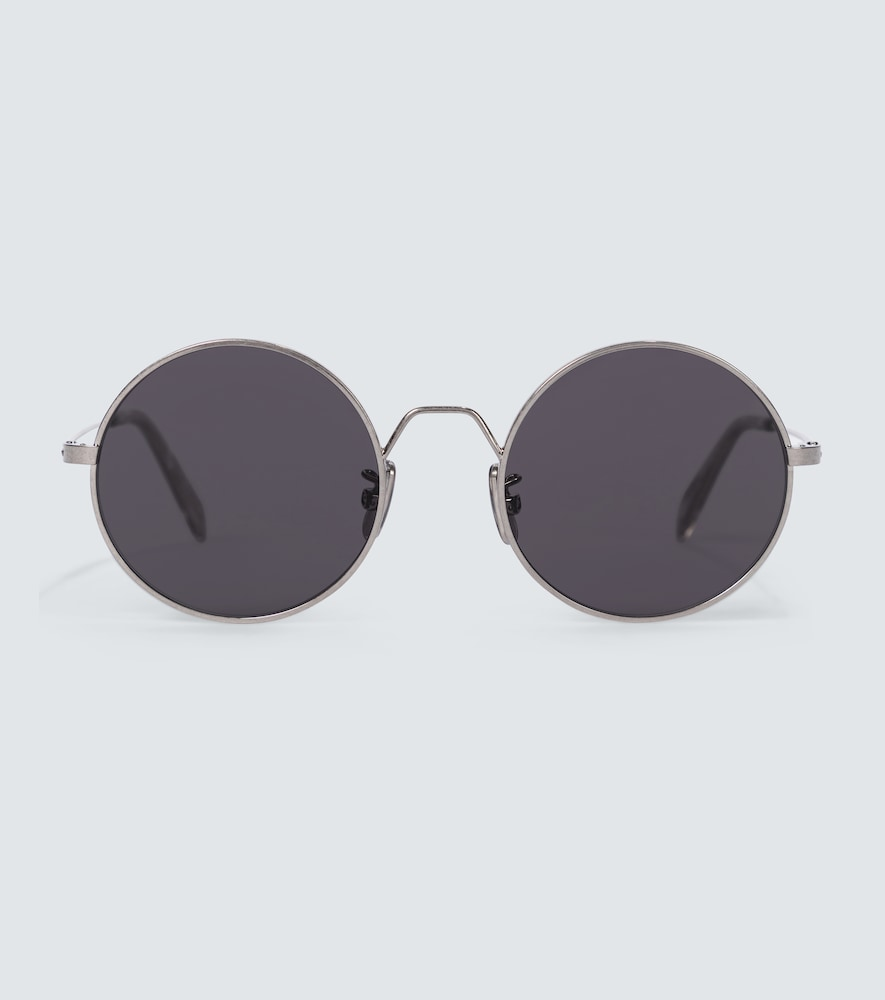 Rounded metal frame sunglasses