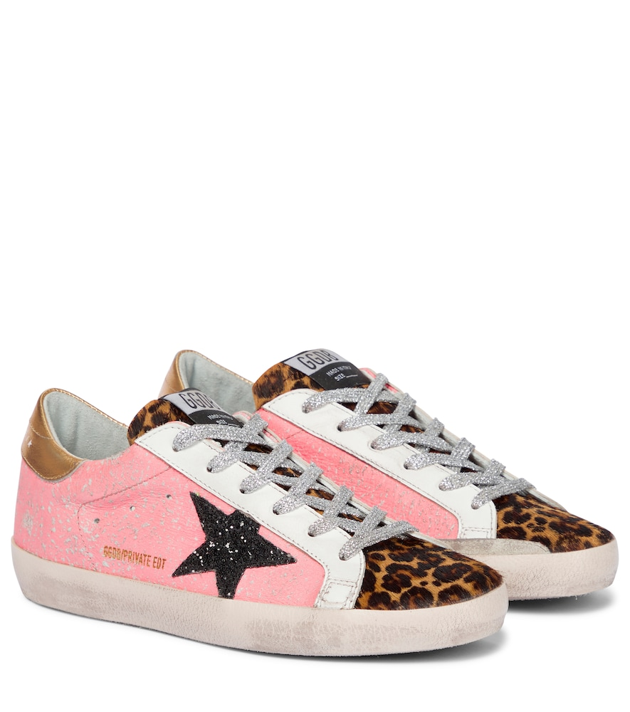 Exclusive to Mytheresa - Superstar leopard-print sneakers