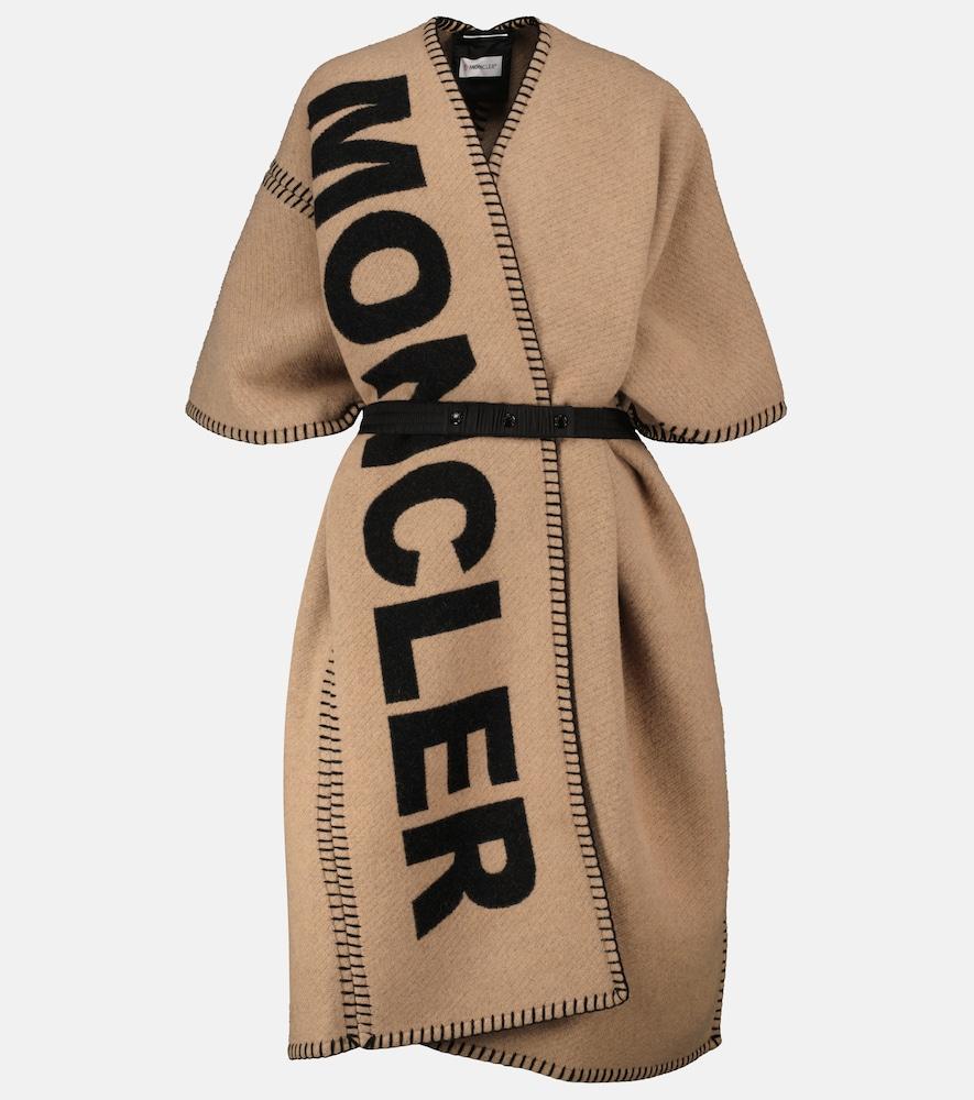 Wool-blend poncho