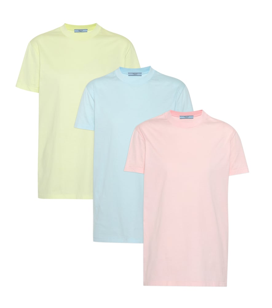 Set Of Three Cotton-Jersey T-Shirts in Pink