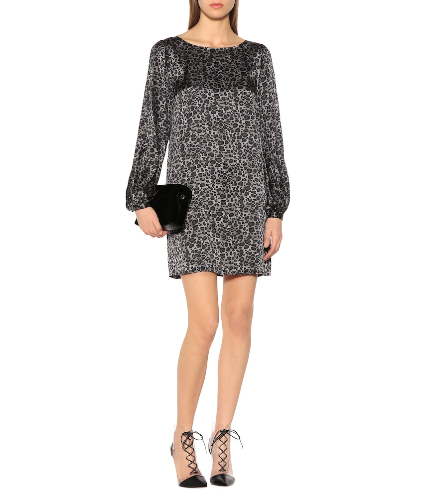Leopard silk tunic dress by Equipment