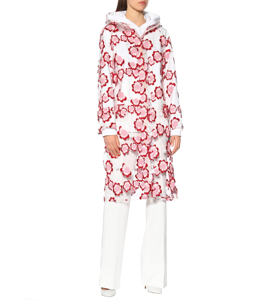 4 MONCLER SIMONE ROCHA embroidered raincoat by Moncler Genius