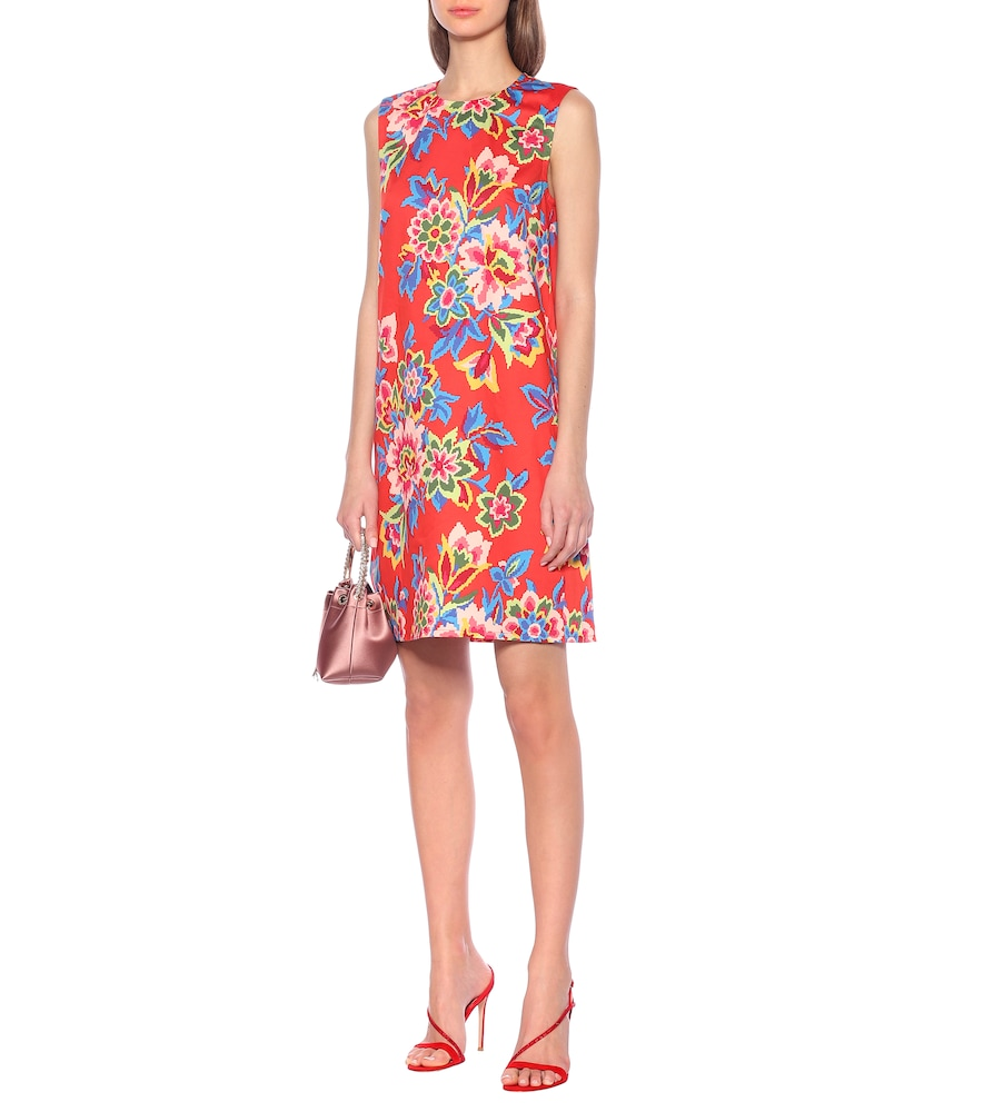 Floral stretch-cotton shift dress by Carolina Herrera
