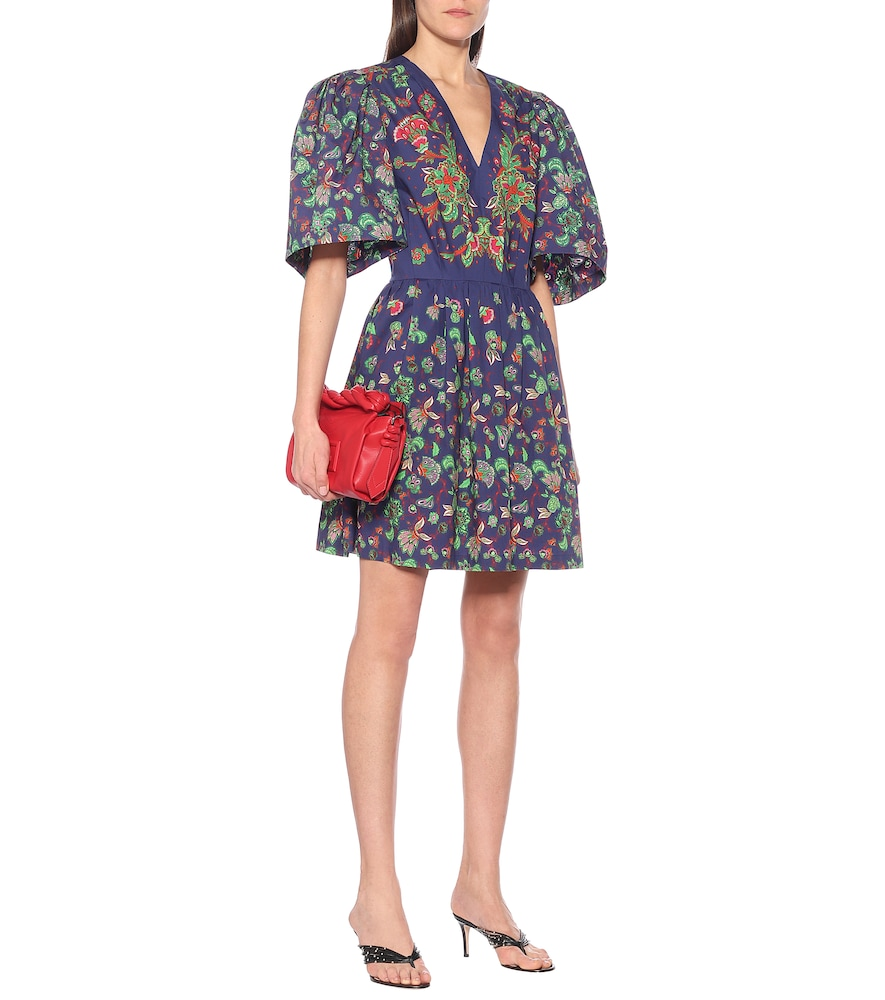 Floral-print cotton-poplin minidress by Givenchy