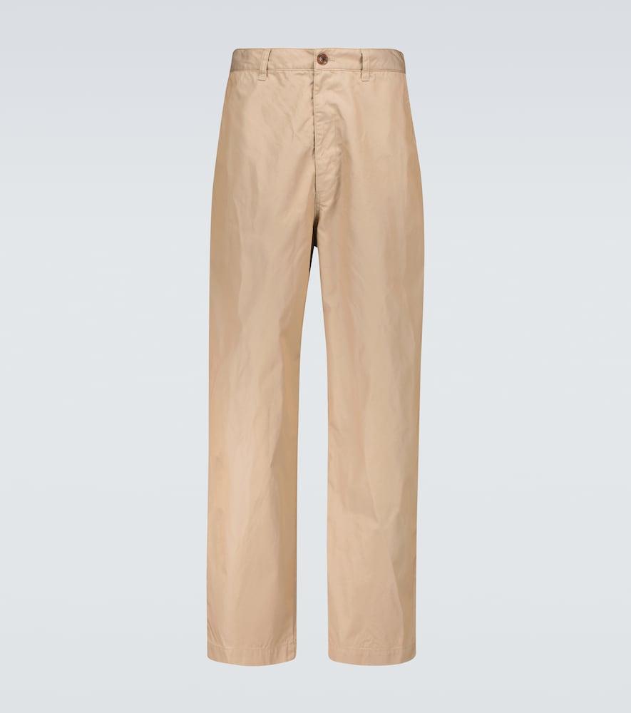 Wide-leg chino pants