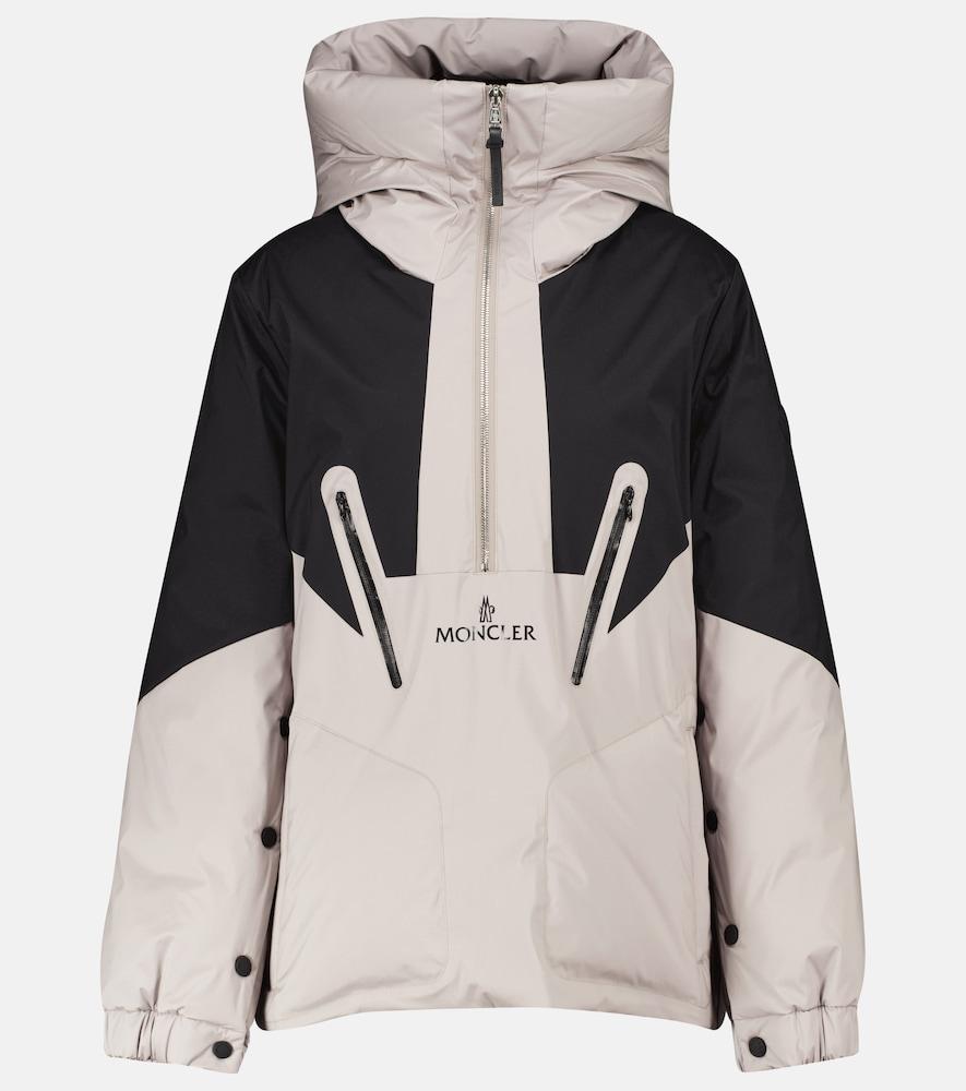 Iberis hooded half-zip down jacket