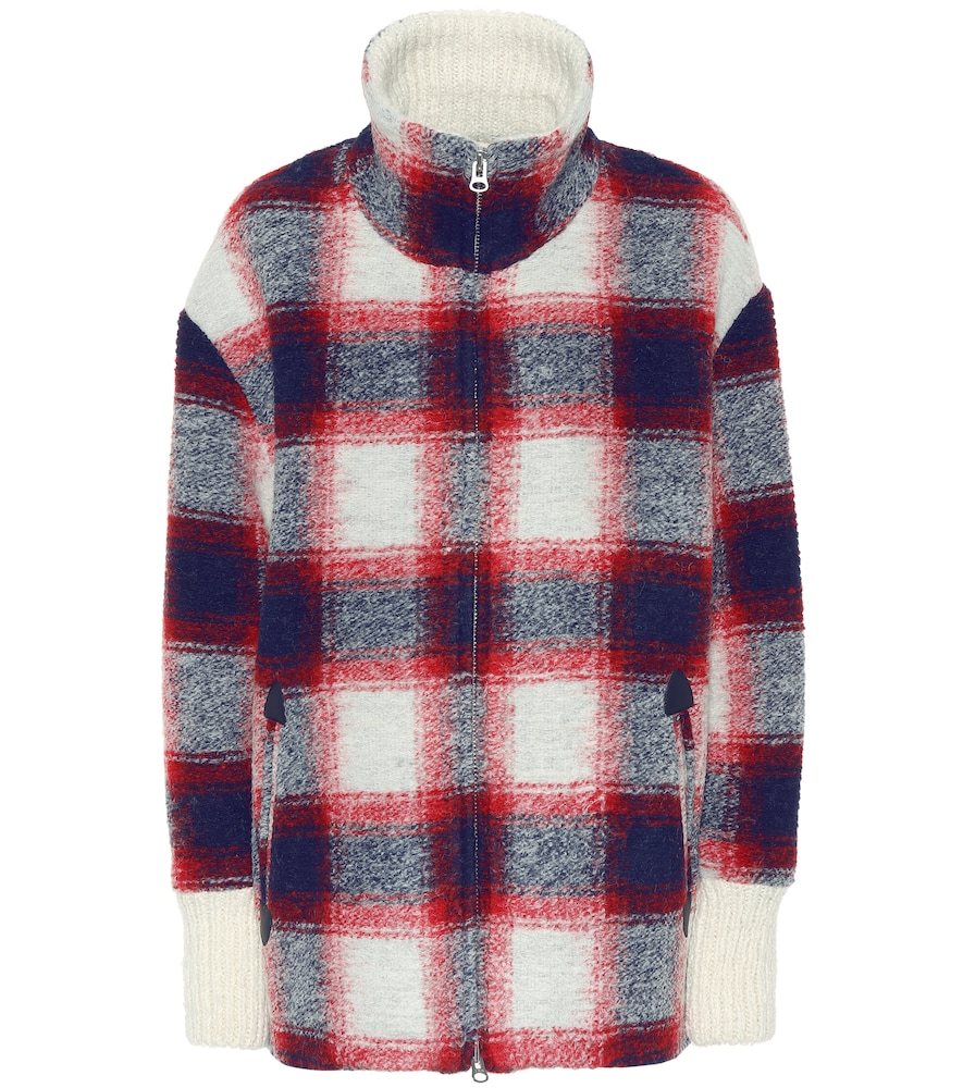 Gimo Checked Wool-Blend Jacket, Multicoloured