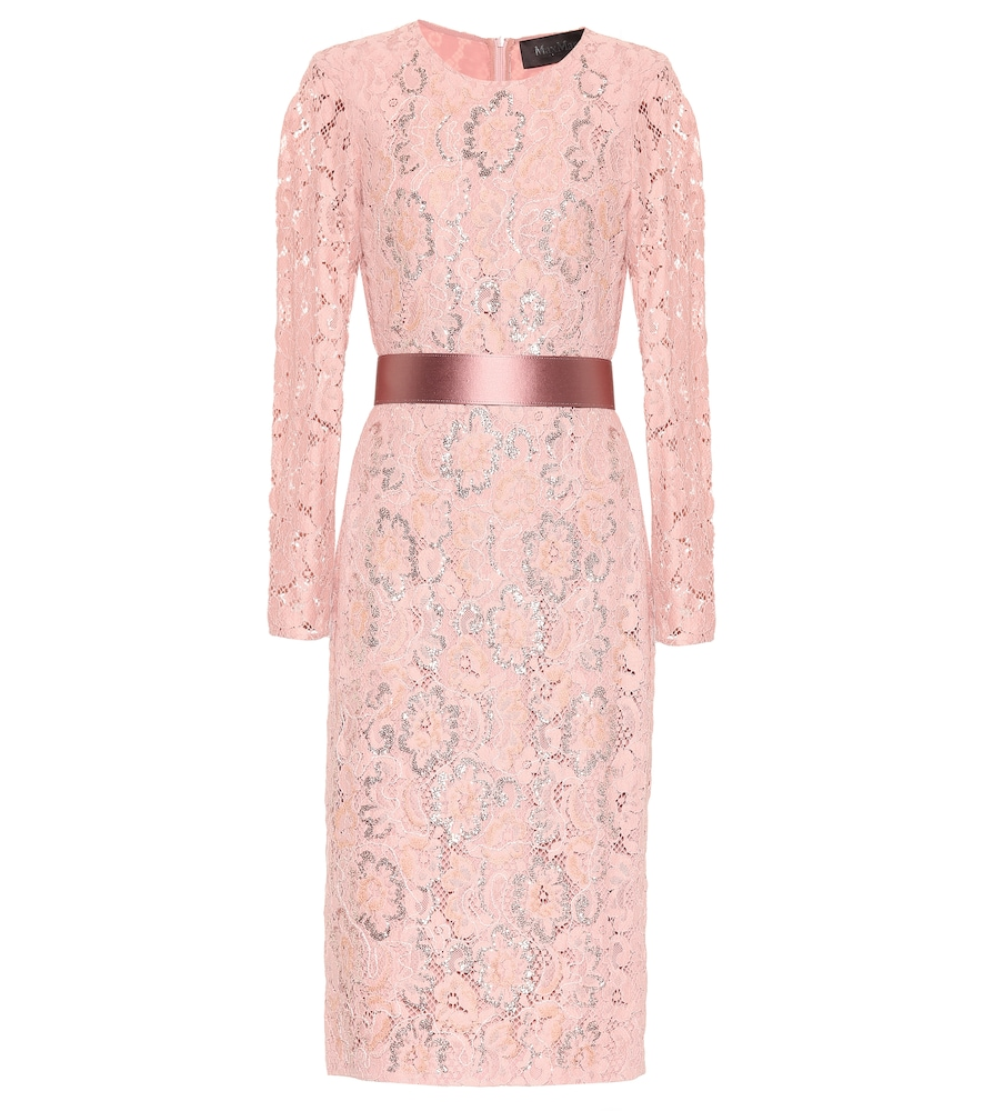 Gala Floral Lace Dress in Pink