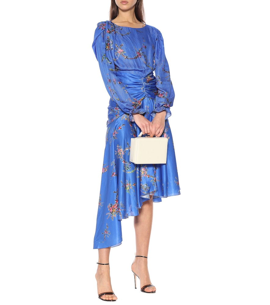 Photo of Diana floral satin dress by Preen by Thornton Bregazzi - shop Preen by Thornton Bregazzi Dresses, Knee-Length online