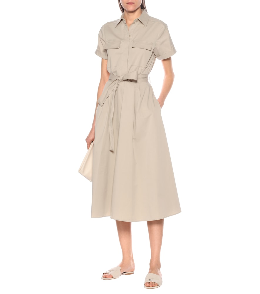 Julia stretch-cotton midi dress by Loro Piana