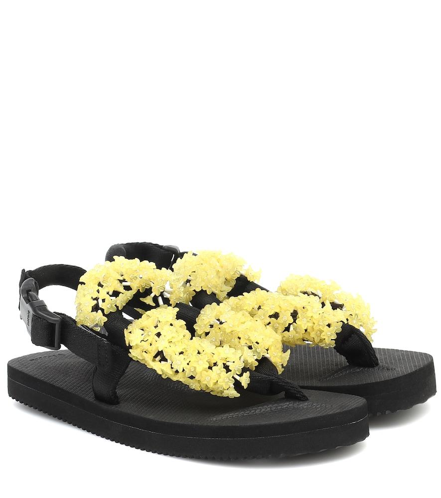 x Suicoke – Sandales Kat en toile à fleurs