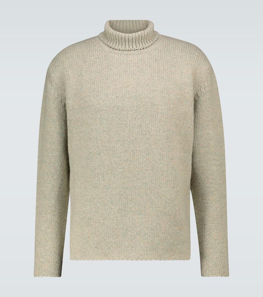 Camel hair-blend turtleneck sweater