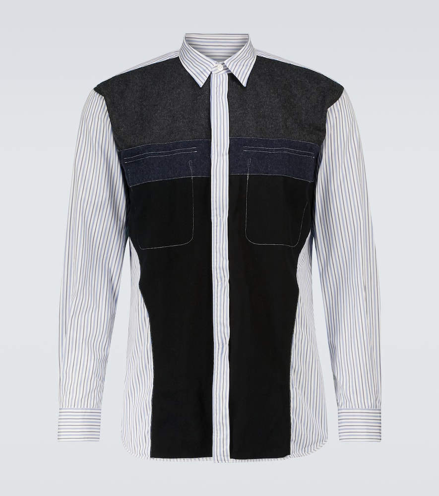 Deconstructed cotton and wool shirt