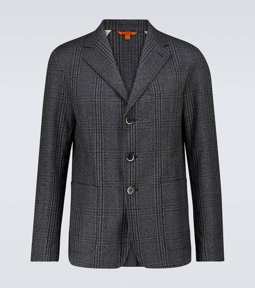 Toppa Drapo checked wool blazer