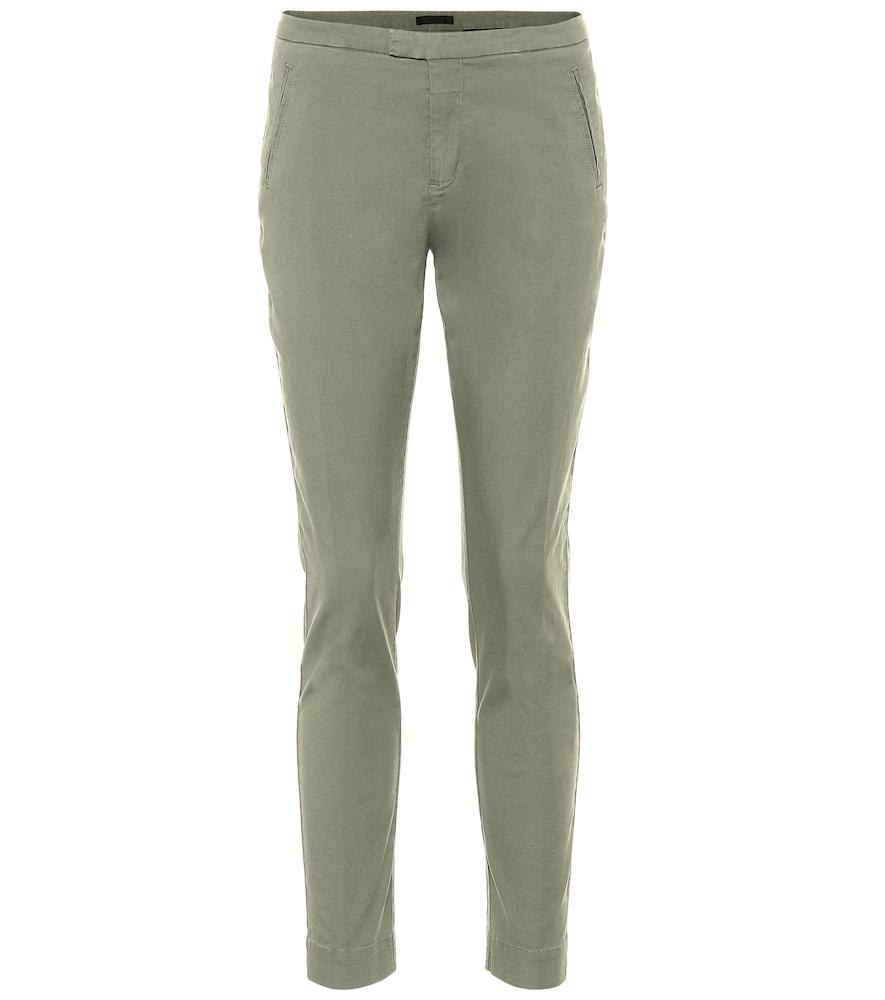Pantalon skinny raccourci en coton