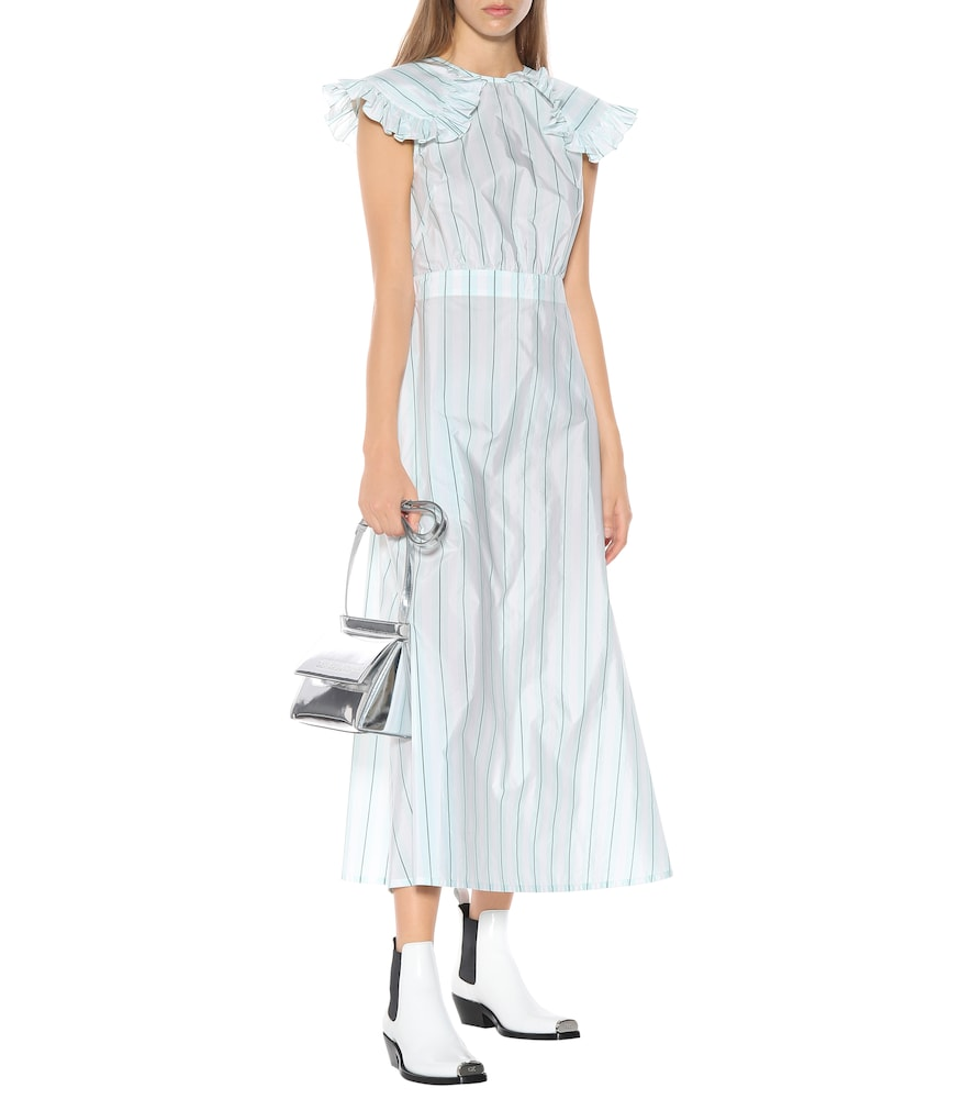 Striped cotton and silk dress by Calvin Klein 205W39NYC
