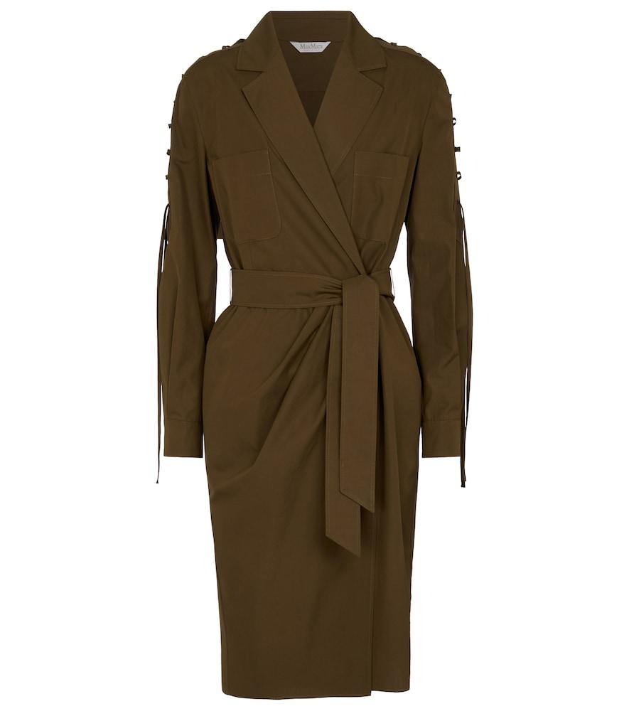 Voto cotton poplin wrap dress by Max Mara