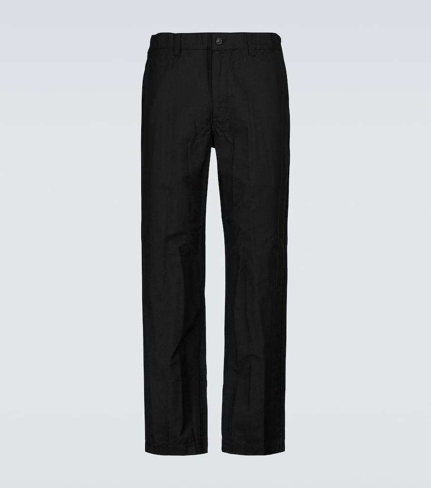 Straight-leg twill pants