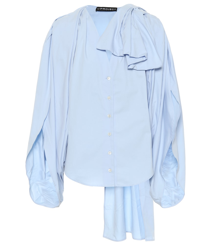 Y/PROJECT Y / Project Oversized Fit Blouse - Blue