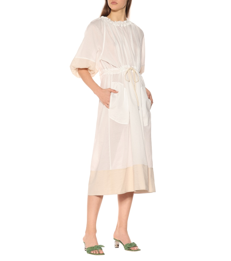 Lilian cotton midi dress by Lee Mathews