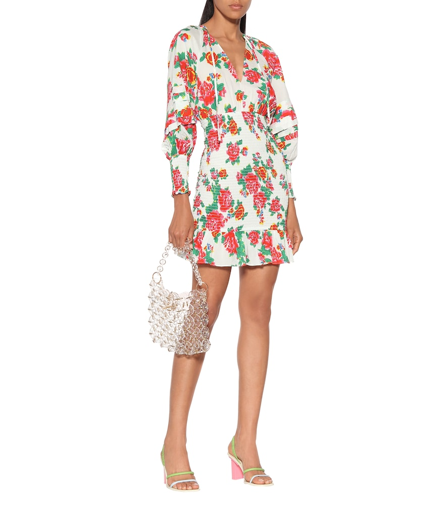 Anya floral cotton minidress by RHODE