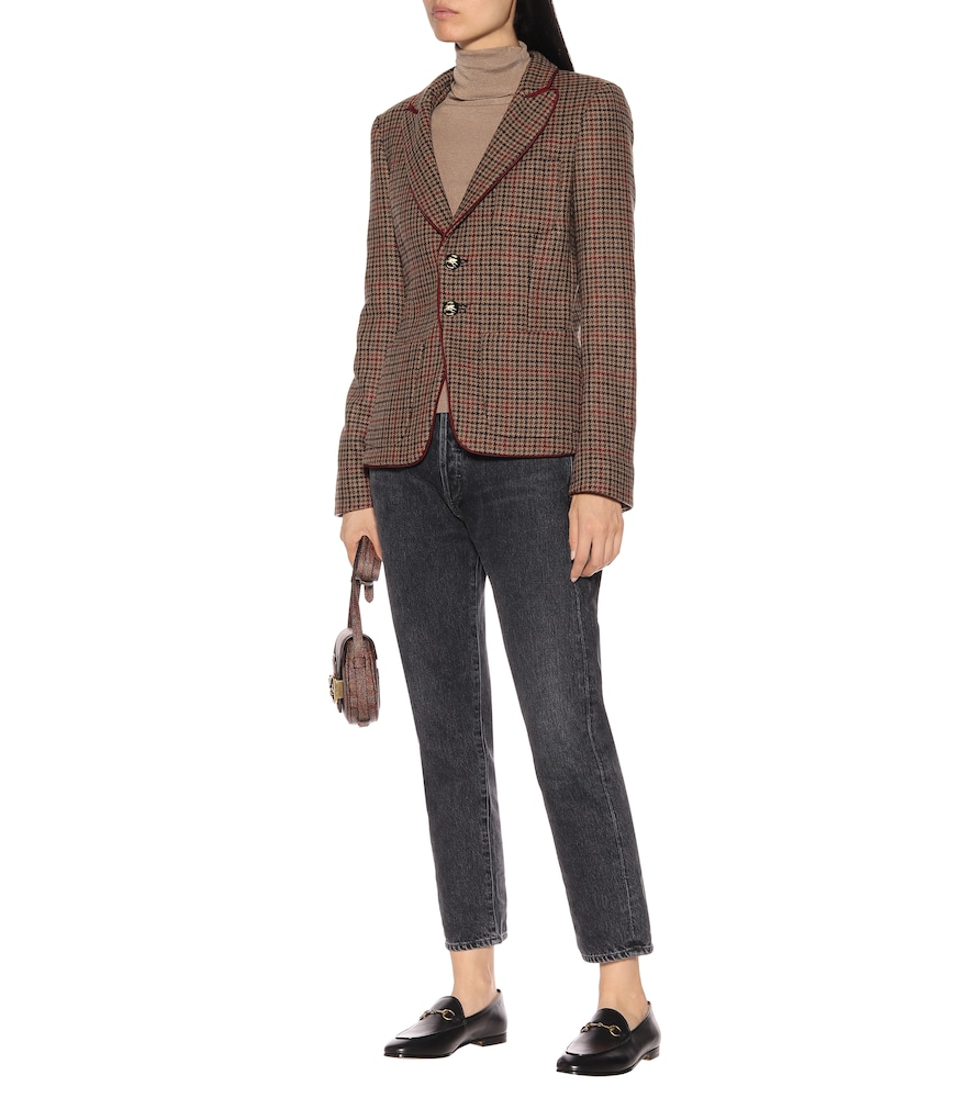 Wool-blend checked blazer by Etro