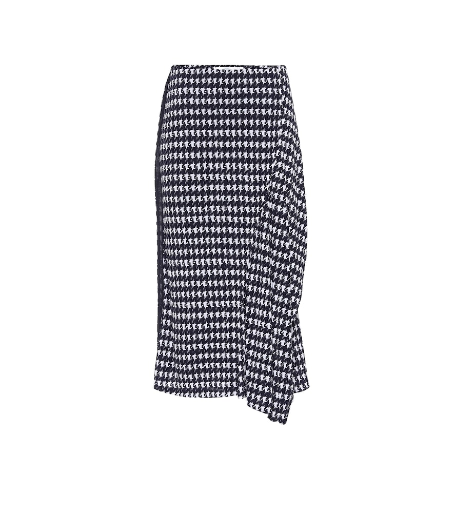 Houndstooth midi skirt