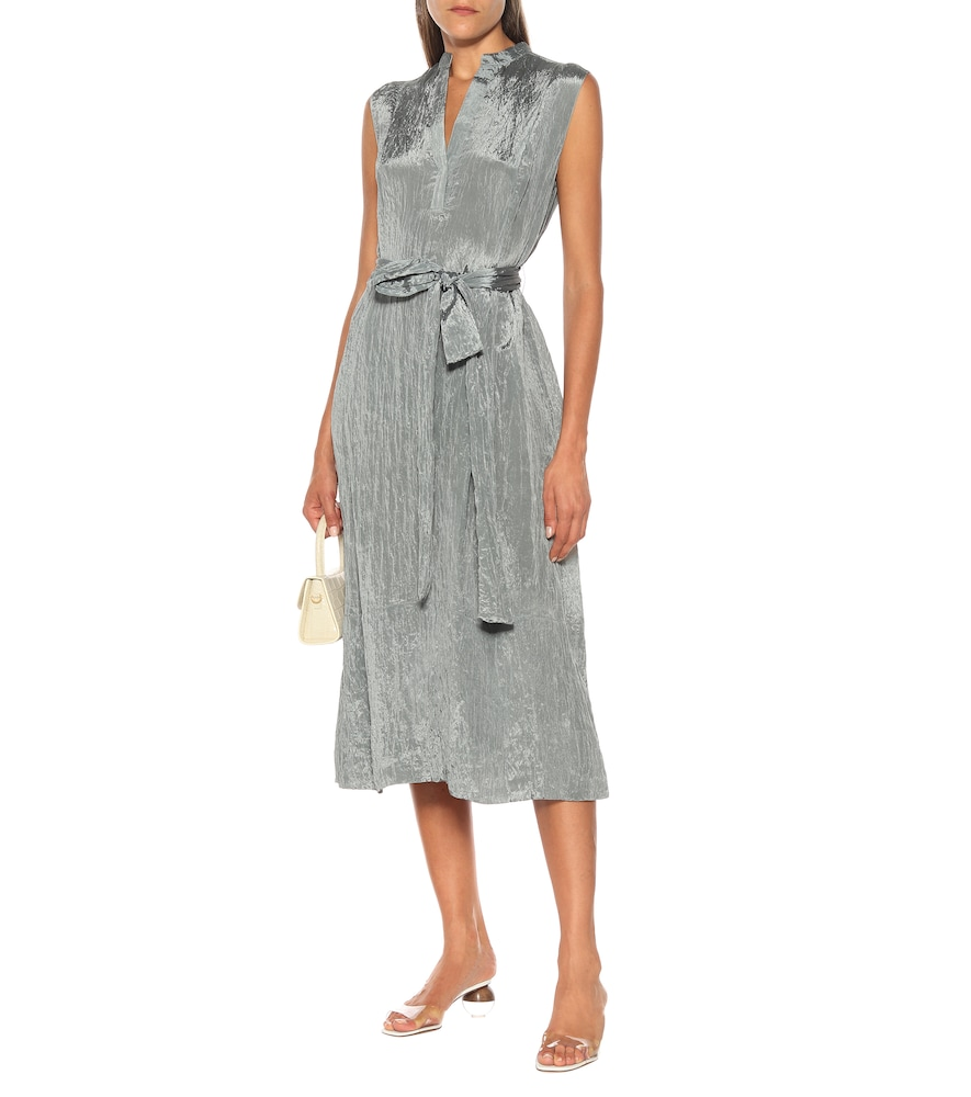 Hammered-satin midi dress by Vince