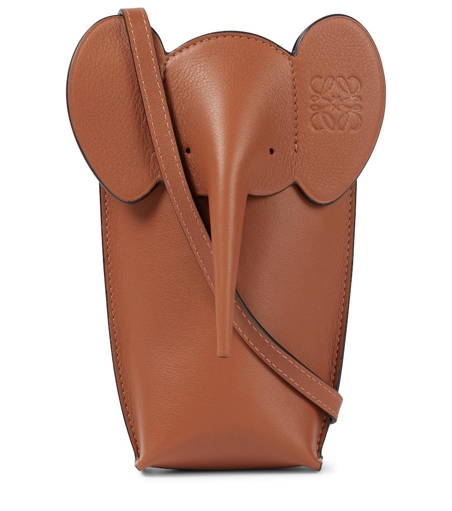 Paula's Ibiza Elephant Pocket leather crossbody bag