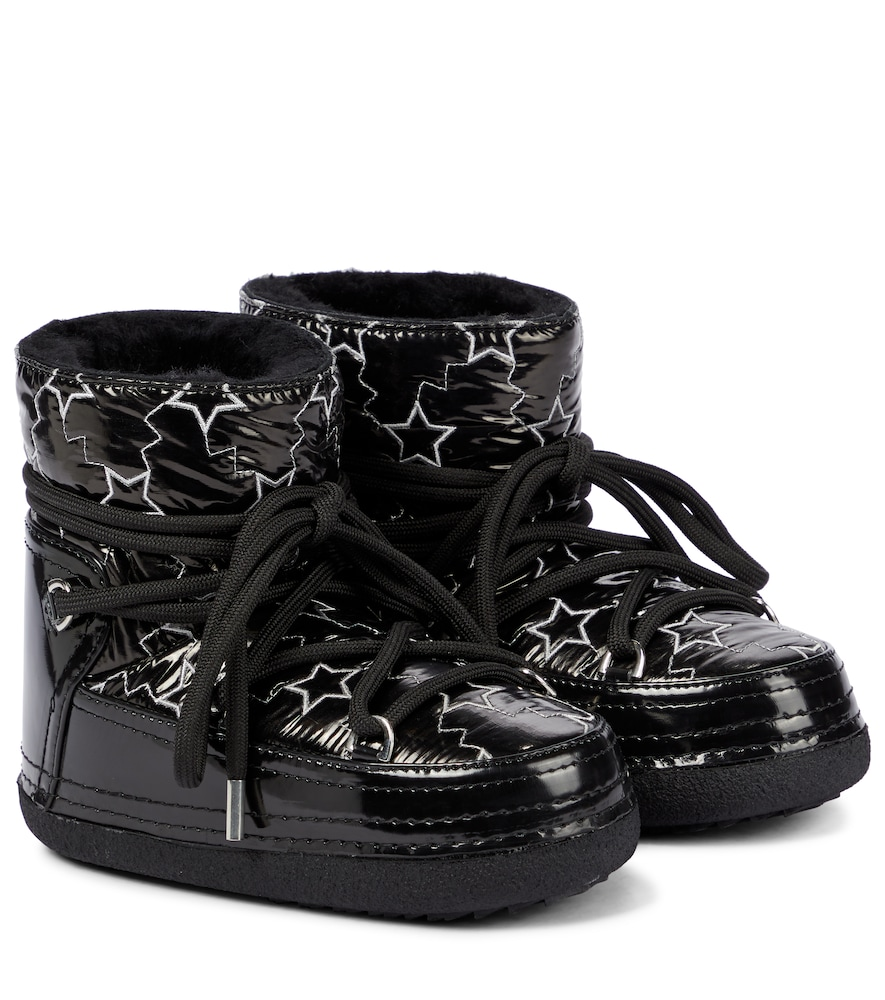 Star shearling-lined faux leather snow boots