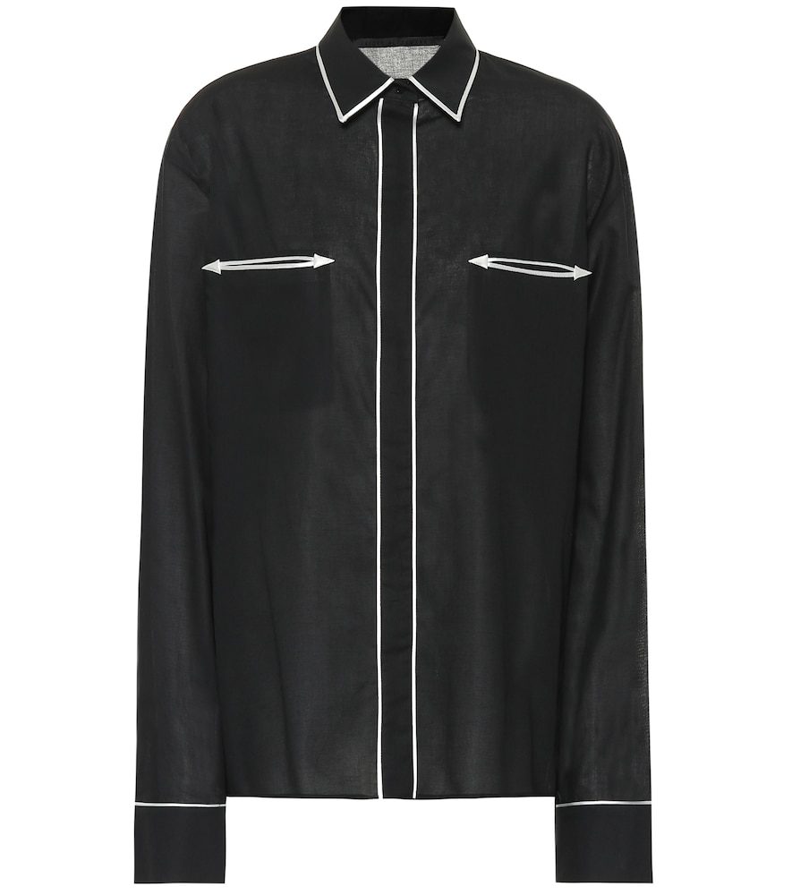Haider Ackermann PIPED COTTON SHIRT