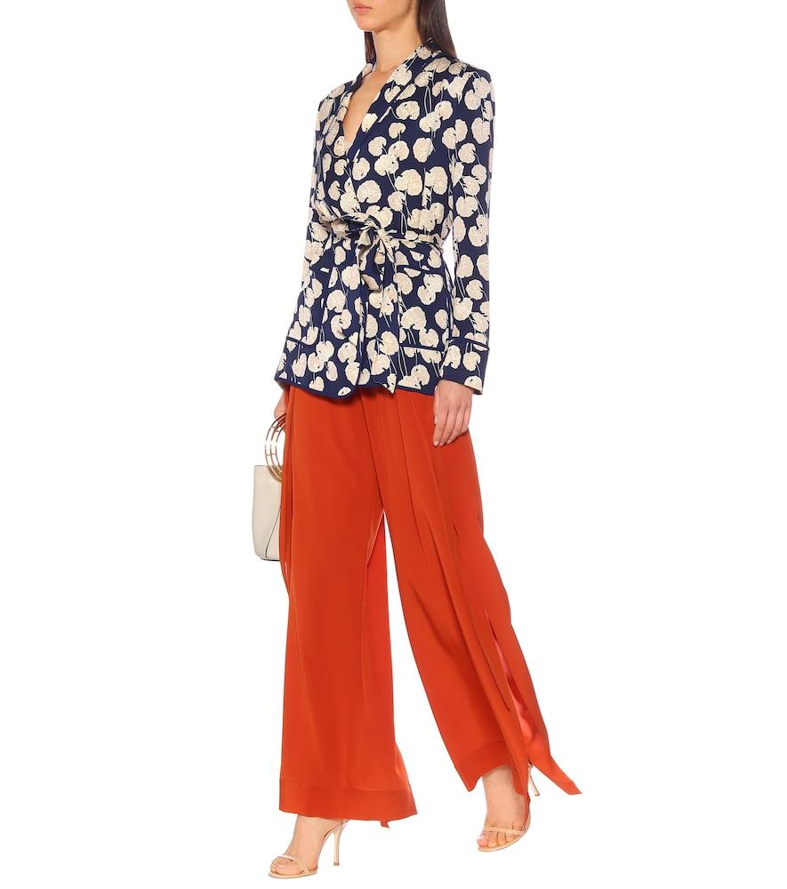 Braelyn silk-blend cady jacket by Diane von Furstenberg
