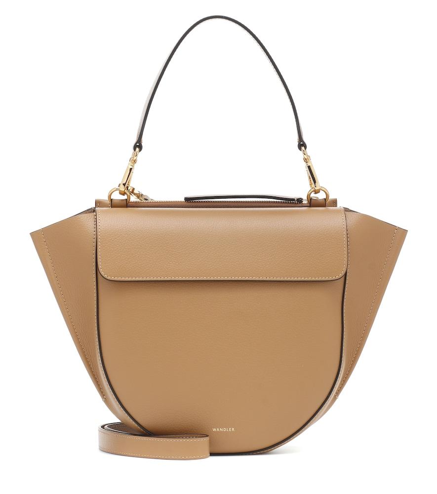 Wandler Hortensia Medium Leather Shoulder Bag In Brown