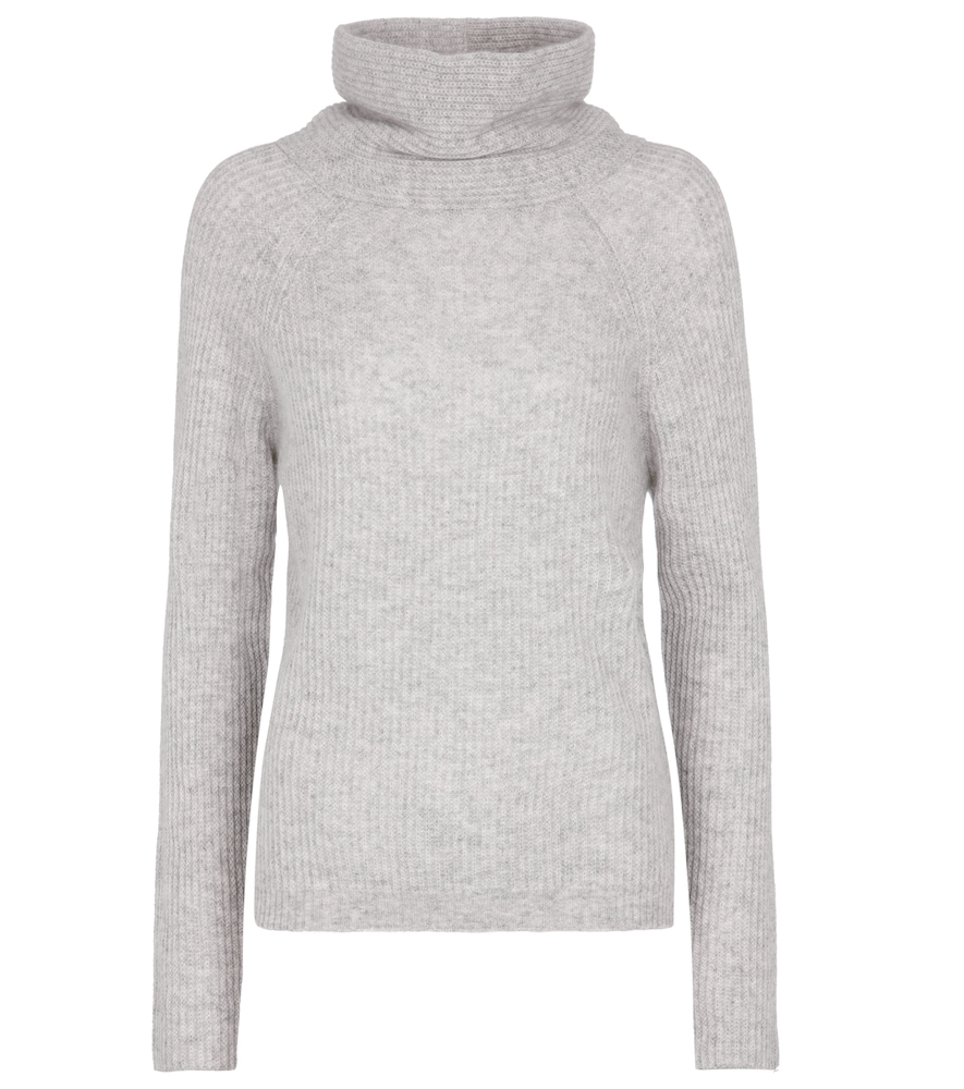 Ribbed-knit cashmere sweater