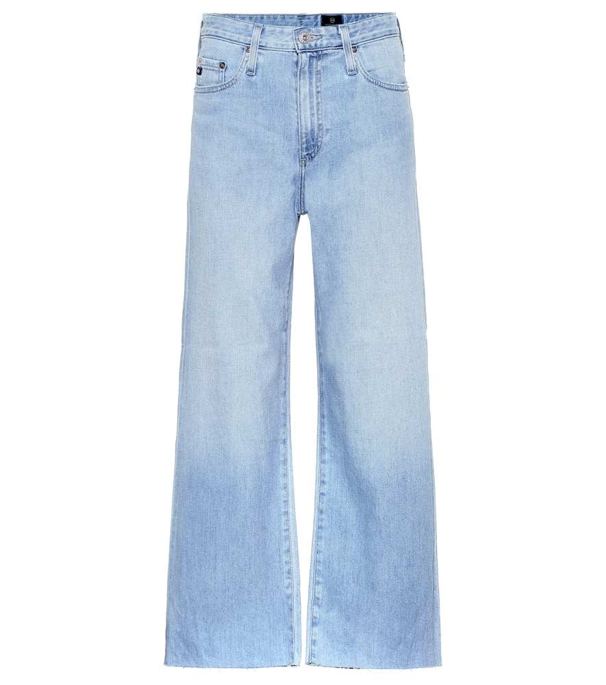 AG JEANS | The Etta Cropped Wide-Leg Jeans | Goxip