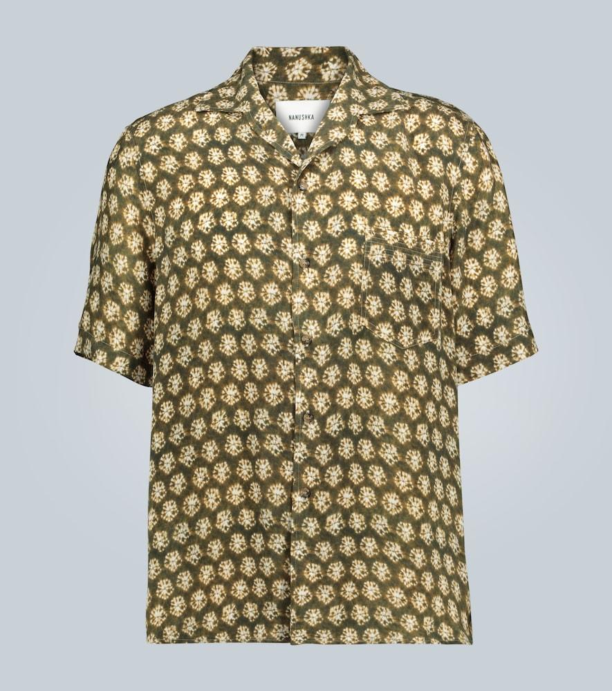 Chemise à imprimé tie-dye