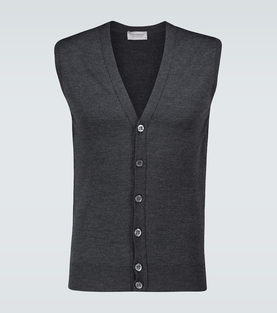 Stavely knitted wool vest