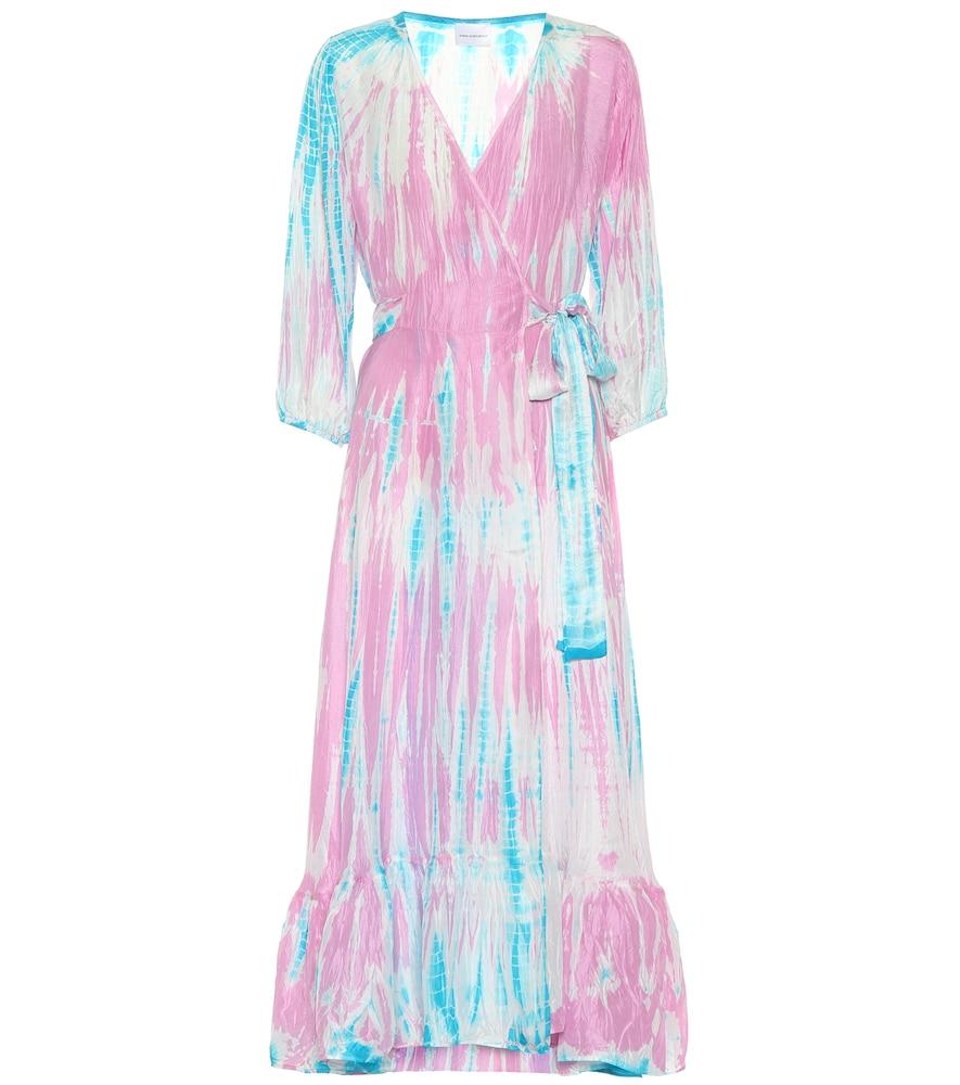 Exclusivité Mytheresa – Robe portefeuille imprimée en soie