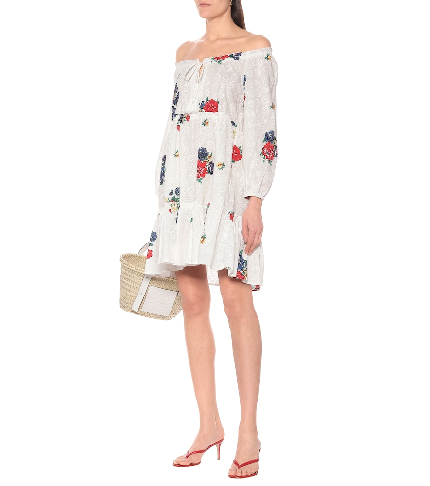 Embroidered cotton voile minidress by Tory Burch