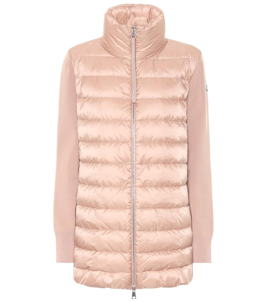 Down and virgin wool jacket