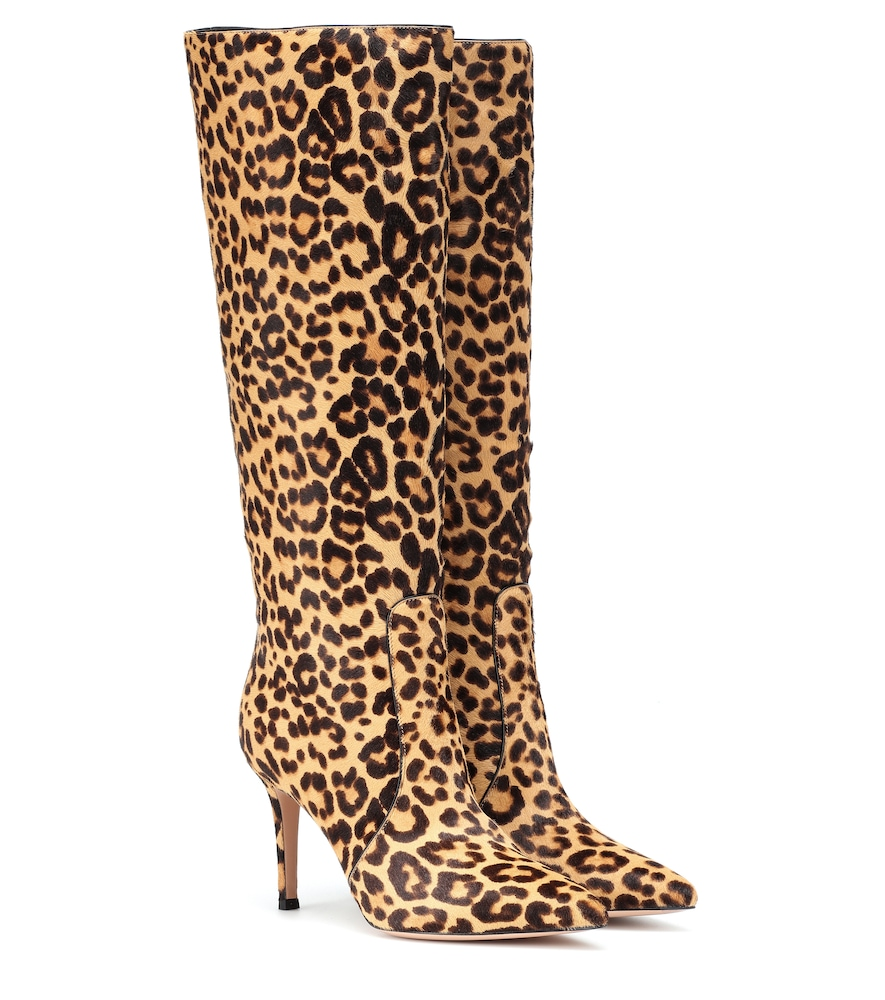 5d12704065169 Gianvito Rossi Hunter Leopard-Print Calf Hair Knee Boots - Lt. Brown Size  10.5 In Multicoloured | ModeSens