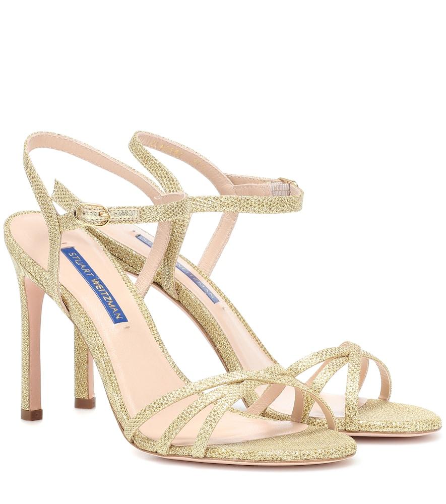 STUART WEITZMAN Women'S Starla Metallic High-Heel Sandals in Gold