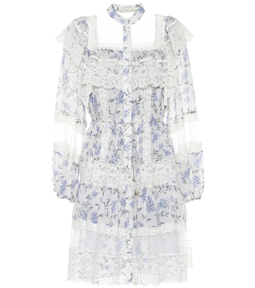 Zimmermann Dresses MONCUR FLORAL AND LACE DRESS