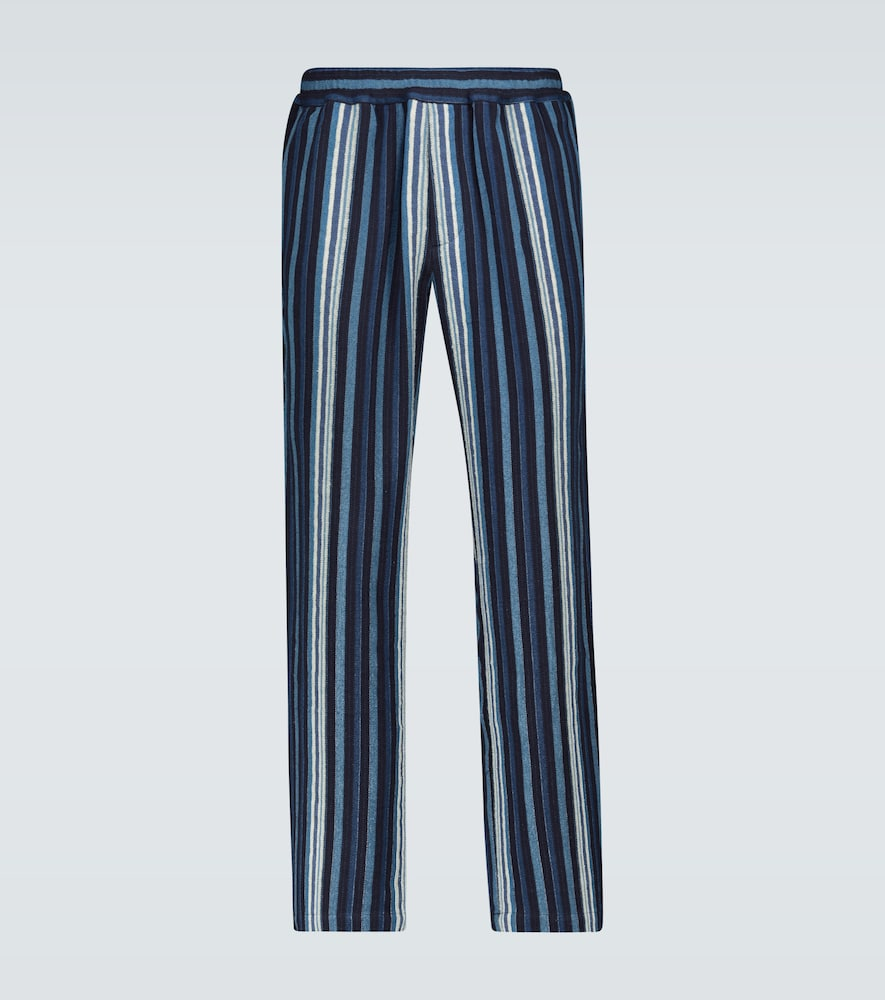 Textured striped lounge pants