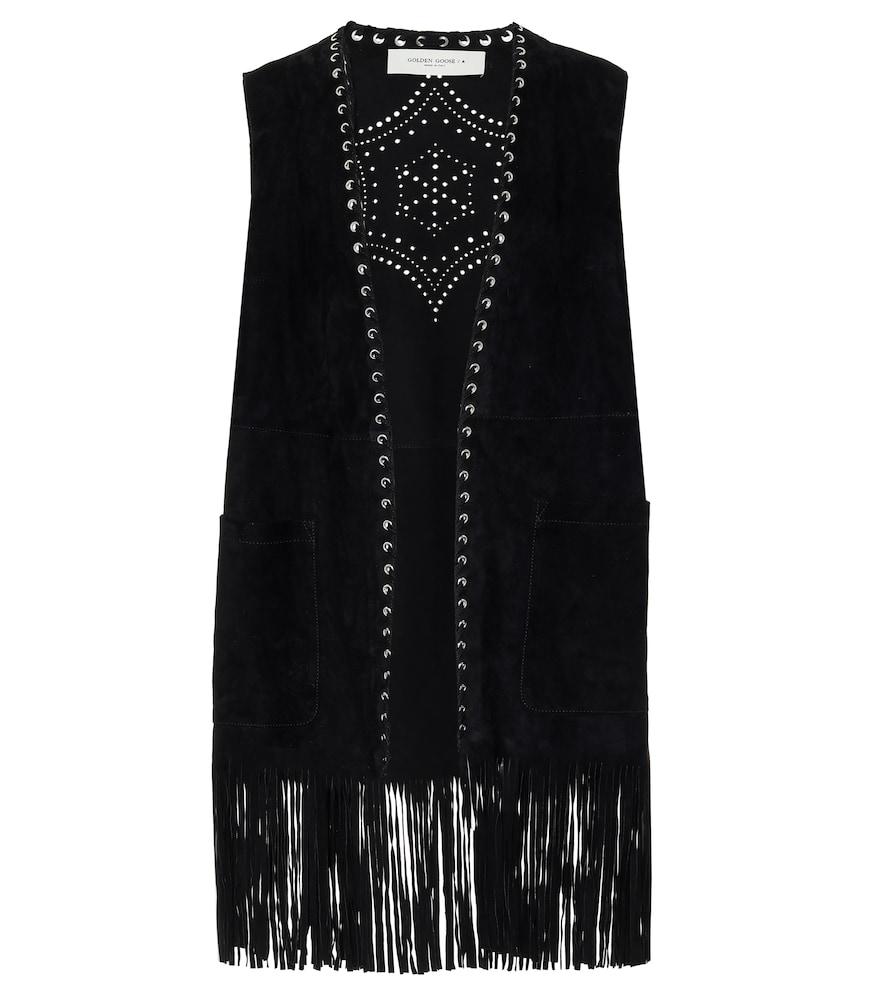 Juno embellished suede vest by Golden Goose