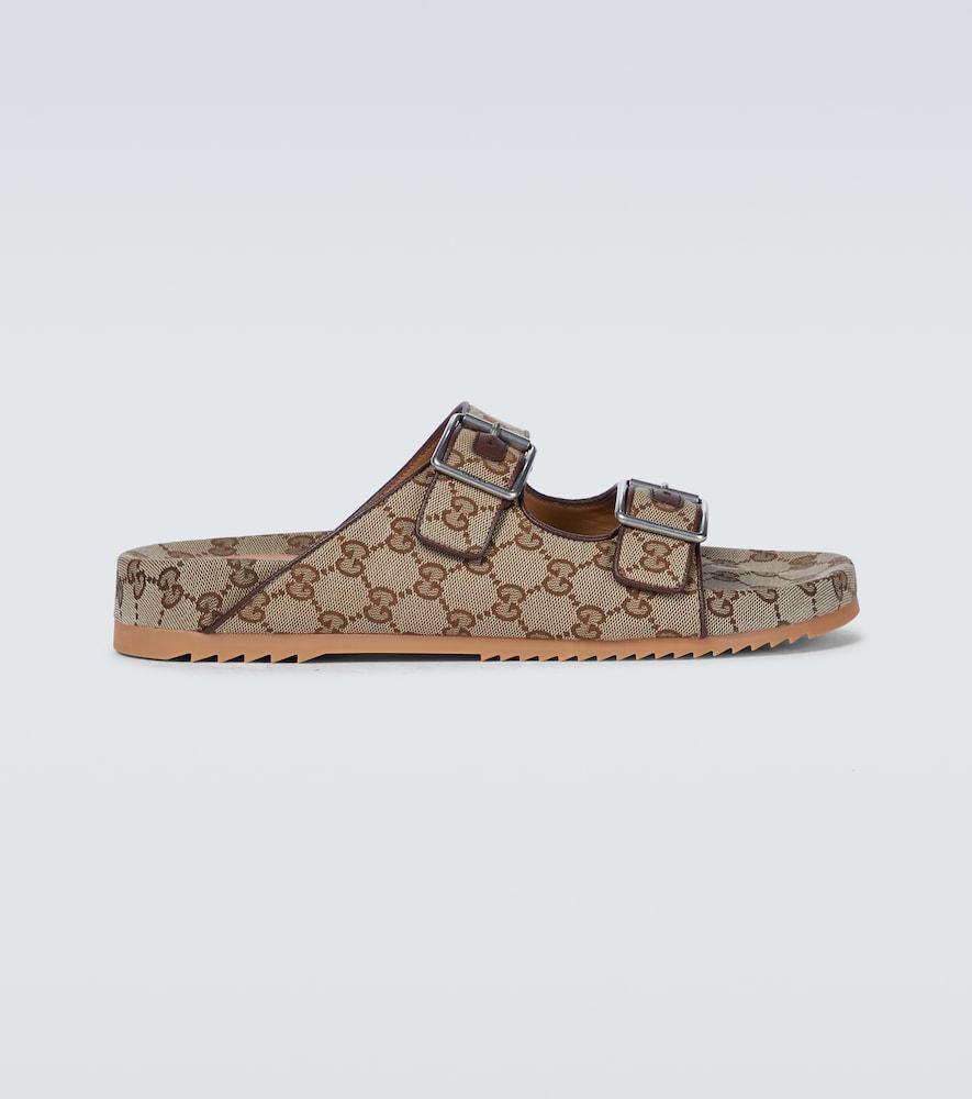GG Supreme canvas sandals