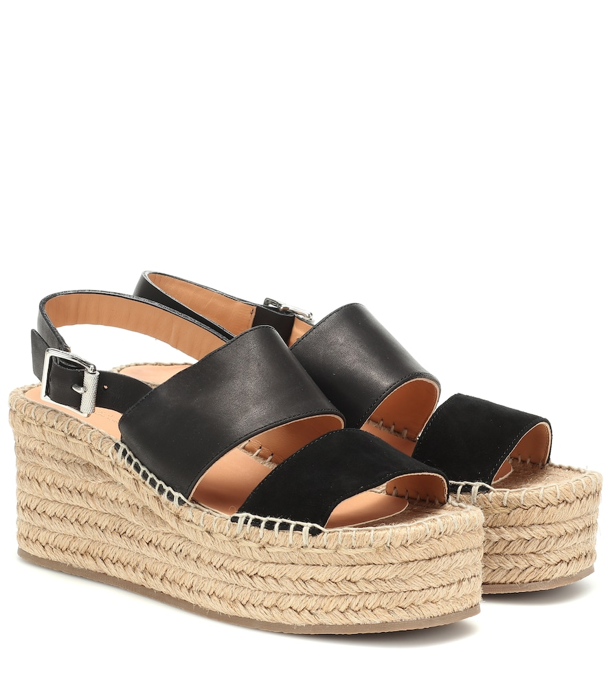 RAG & BONE | Edie Leather Wedge Espadrilles | Goxip